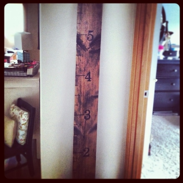 Diy Pottery Barn Inspired Growth Chart Frugal Version Thrifty