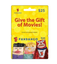 Fandango Gifts Card – Get a $25 Card for $20