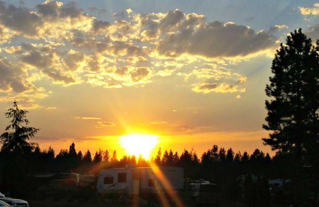 Sunset at Silverwood