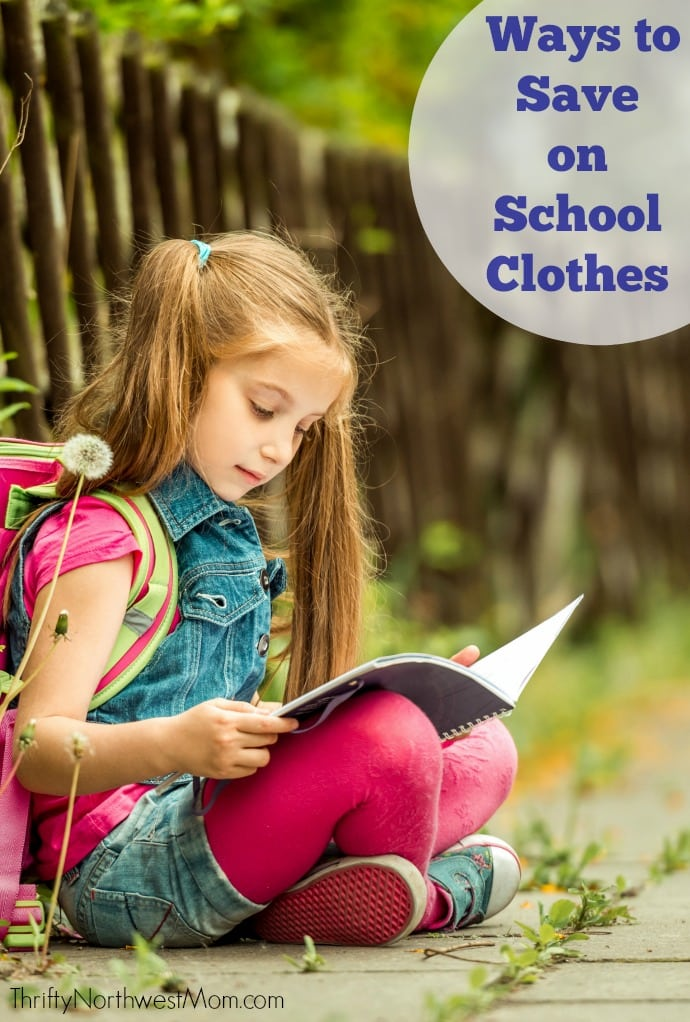 Find out tips for saving the most on back to school clothes