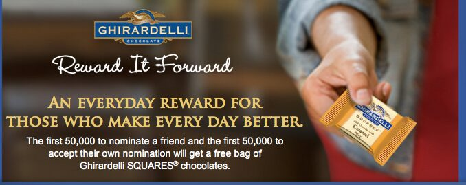 Ghiradelli Chocolate – Coupon for FREE Bag of Chocolate for you & a friend!