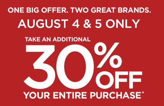 Gap Outlet & Banana Republic Outlet – 30% off Your Purchase – August 4th & 5th
