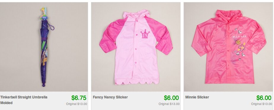 Disney & Character Themed Umbrellas & Raincoats as low as $5!