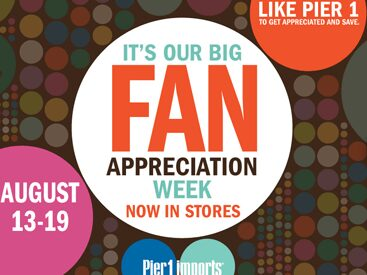 Pier One – $10 off $50 Printable Coupon