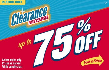 Old Navy – Up to 75% off Clearance Sale this weekend!