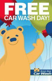 FREE Car Wash At Brown Bear TODAY (8/23)