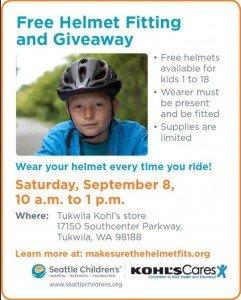 Free Bike Helmets At Kohls (Tukwila)
