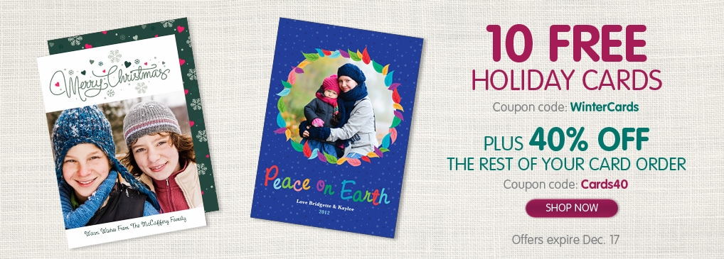 InkGarden – 10 Free Holiday Cards ($3.99 Shipping)