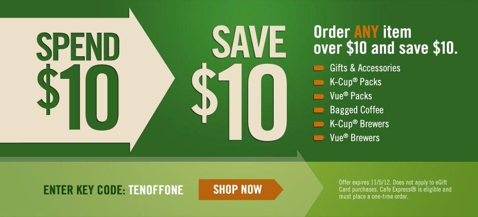 Green Mountain Coffee – $10 Off $10 (Free Coffee or Cheap K-Cups!)