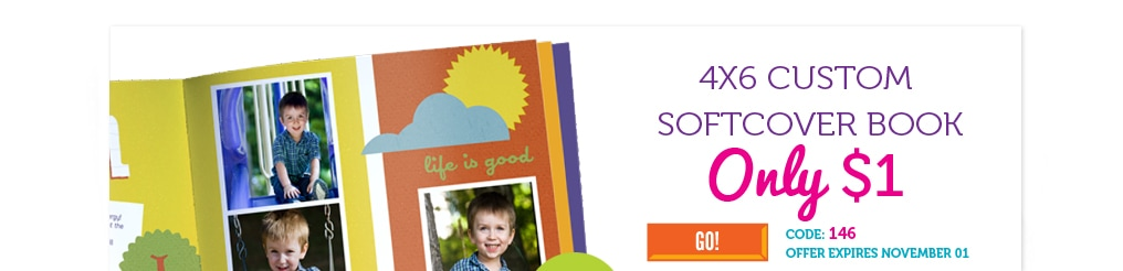 Photobooks – 4×6 Softcover Books for $1 (Plus $1.99 Shipping) & 40 Free Photos