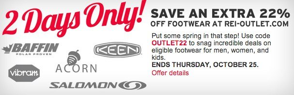 REI – 22% Off Clearance Footwear! (Last Day)