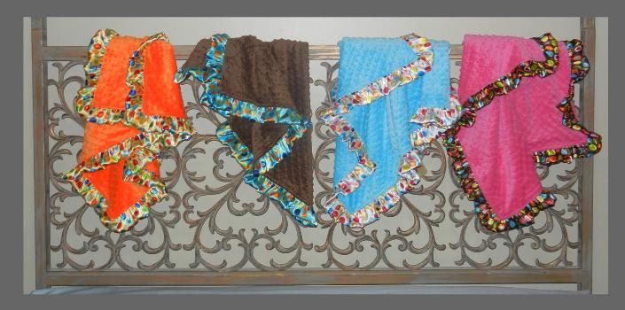 Bebe Bella – Satin & Chenille Ruffle Blankets 70% Off