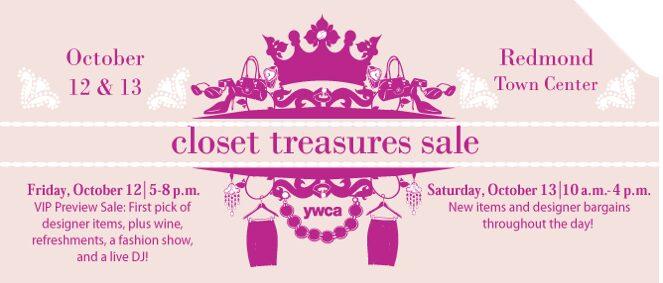 YWCA Closet Treasures Sale -Discounted Designer, Vintage & Name-Brand Clothing – Redmond, Saturday October 13th