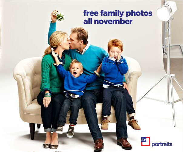 JCPenney – FREE Family Photos with 8 x 10 & No Sitting Fees during November