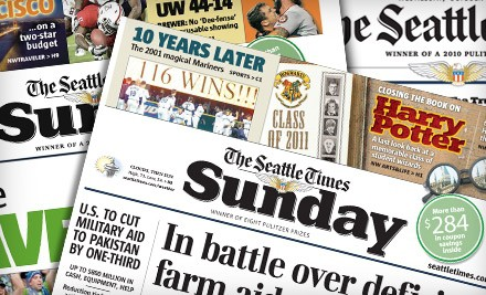 The Seattle Times – 75% Off Sunday Paper Deal (Sunday Paper and Digital Subscription)!