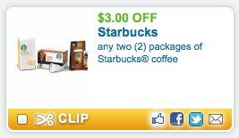 Starbucks Coffee – $5.49 Per Bag