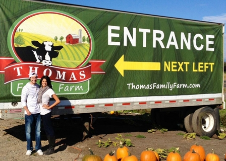 Thomas Farm – 2 Pumpkins and 4 Tickets For Corn Maze for $25 ($54 Value)