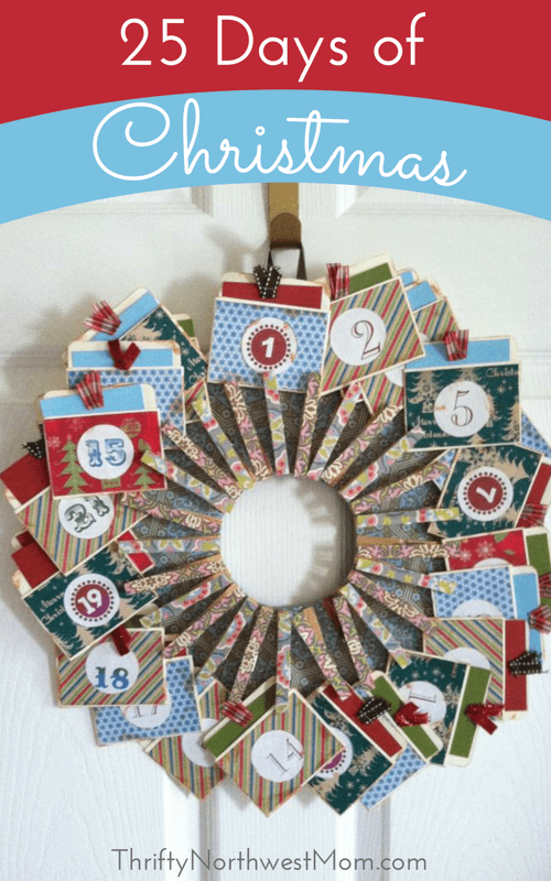 25 Days of Christmas Advent Calendar and Activities for every day in December