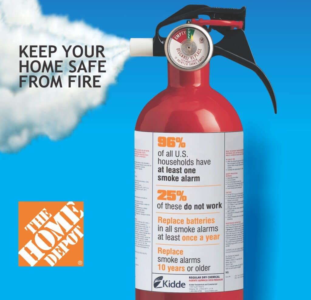 Home Depot Fire Safety Event – Saturday December 1st + $50 Home Depot Gift Card & Kidde Smoke Alarm Giveway!