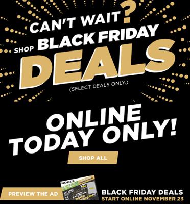 Kohl's Online Black Friday Deals