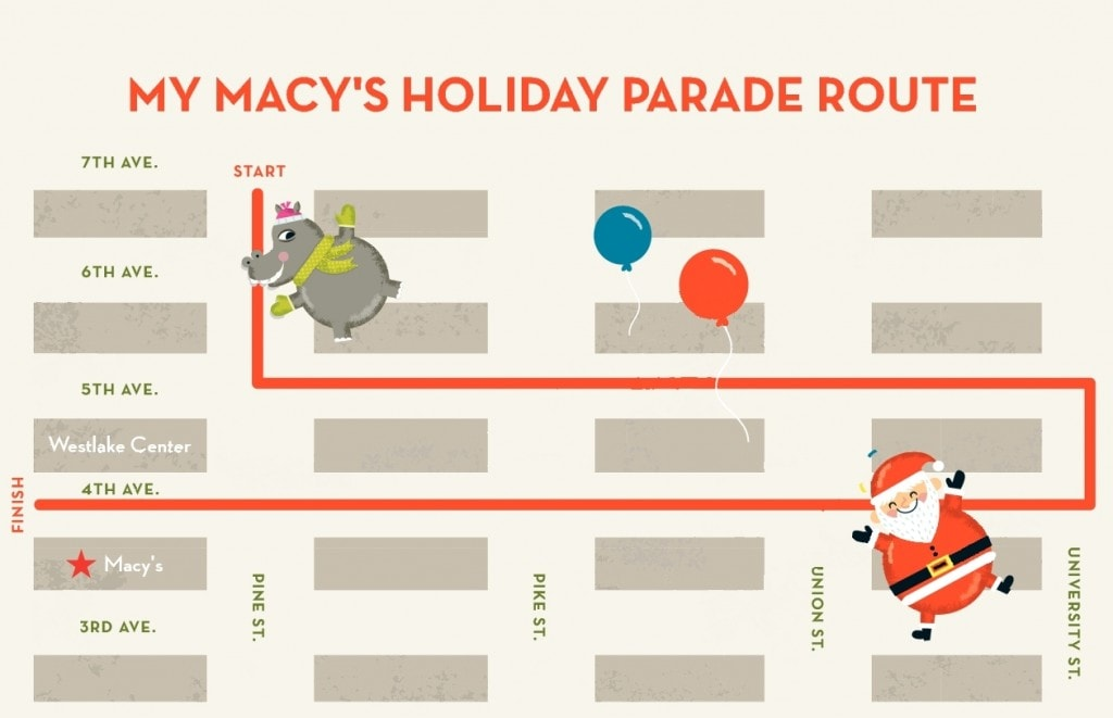 Seattle's My Macy's Holiday Day Parade VIP Package Giveaway – 4 VIP Tickets, $25 Macy's Gift Card & more!