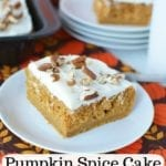 Pumpkin Spice Cake Recipe With Rum Cream Cheese Frosting (So Easy)!