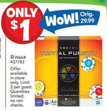 Trivial Pursuit – $1 (2 Days Only, Reg. $29.99)!