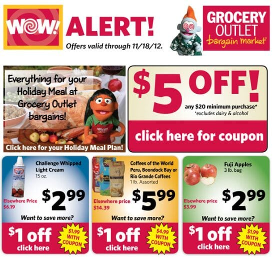 Grocery Outlet Coupons – $5 off $20 purchase