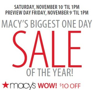 Macy's $10 Off $25 Coupon
