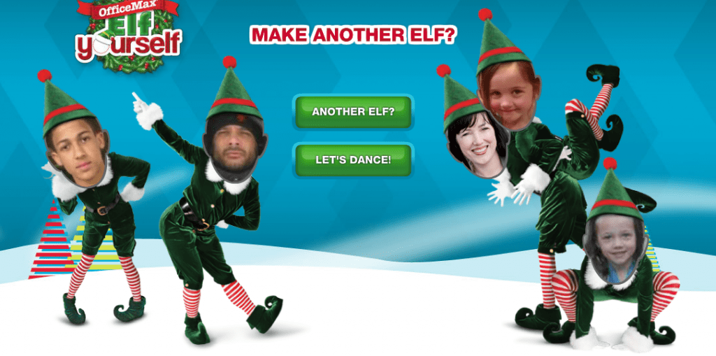 image regarding Elf Yourself Printable identified as Absolutely free Elf You Tailor made Calendar (Constrained Year) - Thrifty