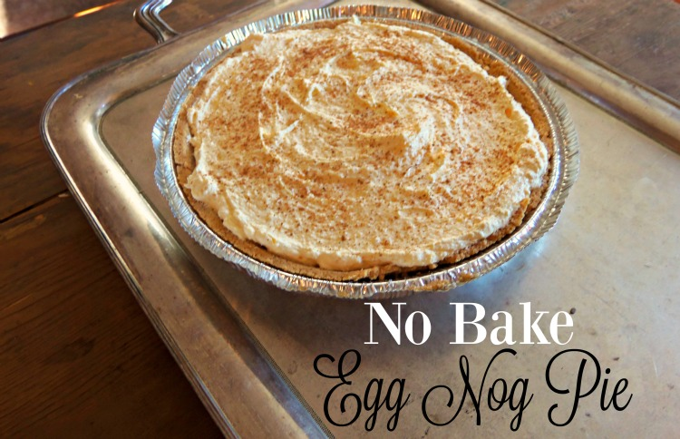 No Bake Eggnogg Pie