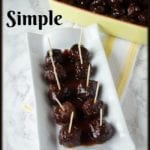 Simple Slow Cooker Recipe – Easy Party Meatballs – 3 Ingredients!