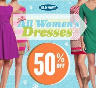 Old Navy Dresses 50% Off Today Only (starting at $3.98)!