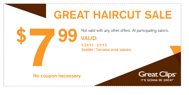 when is great clips haircut sale hair cuts 7 99 at great thrifty nw 2732 | Great Clips hair cut