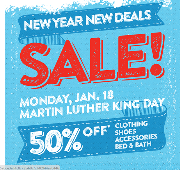 Value Village Martin Luther King Day Sale