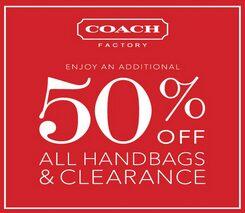 Coach Printable Coupon – Rare 50% off All Handbags & Clearance Items