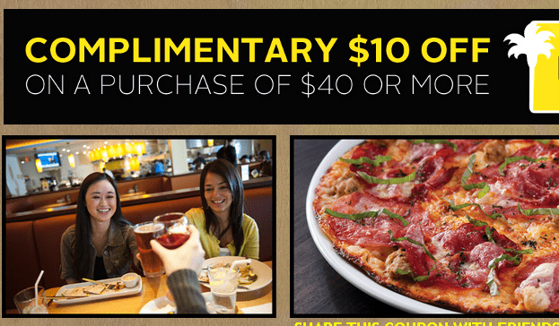 California Pizza Kitchen Coupon - $10 Off $40 Purchase - Thrifty NW Mom