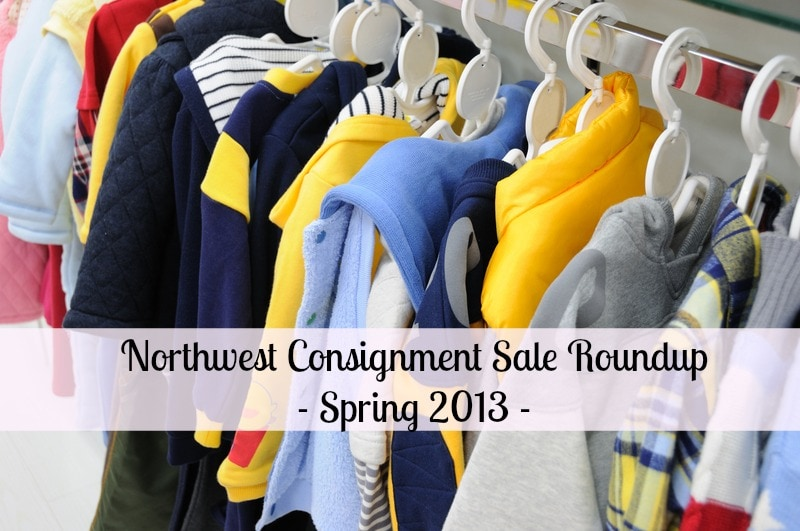 Spring Consignment Sale List in Pacific Northwest 2013