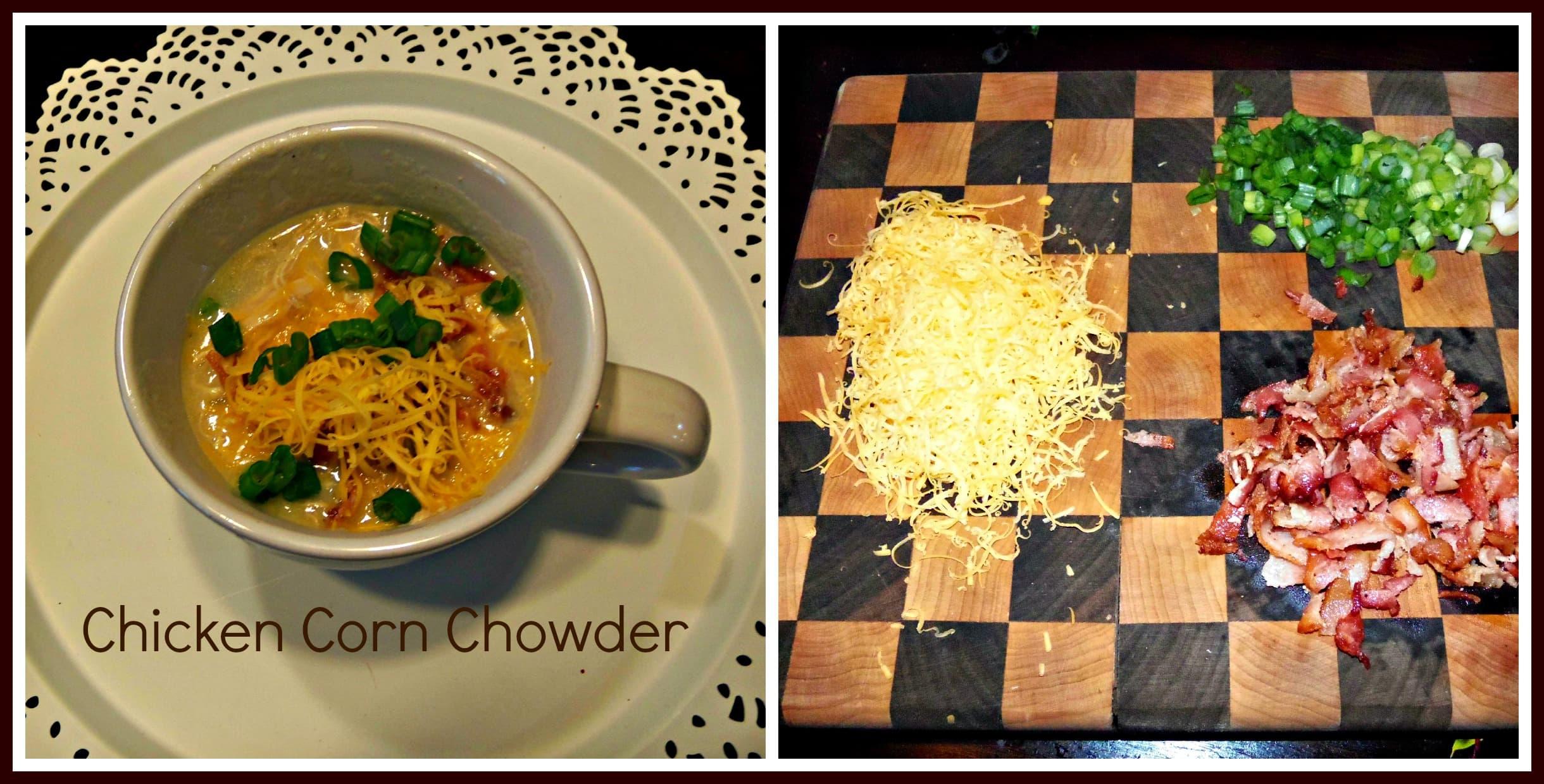 Chicken Corn Chowder Collage