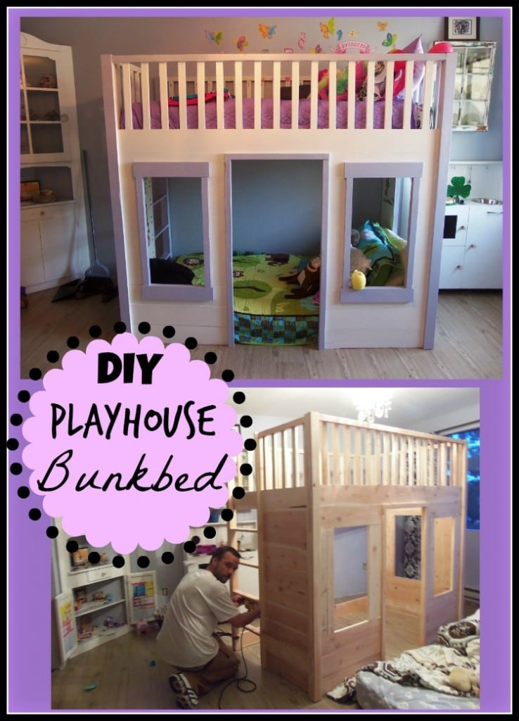 DIY Playhouse Bunkbed