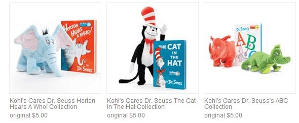 Kohls Cares 5 Dr Seuss Plush Toys Books Thrifty Nw Mom