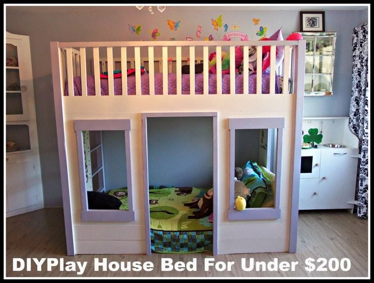 stunning Diy Kids Bed Ideas Part - 11: Kids House Bed