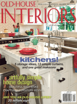 Old house interiors magazine one year subscription for for Home design magazine subscription
