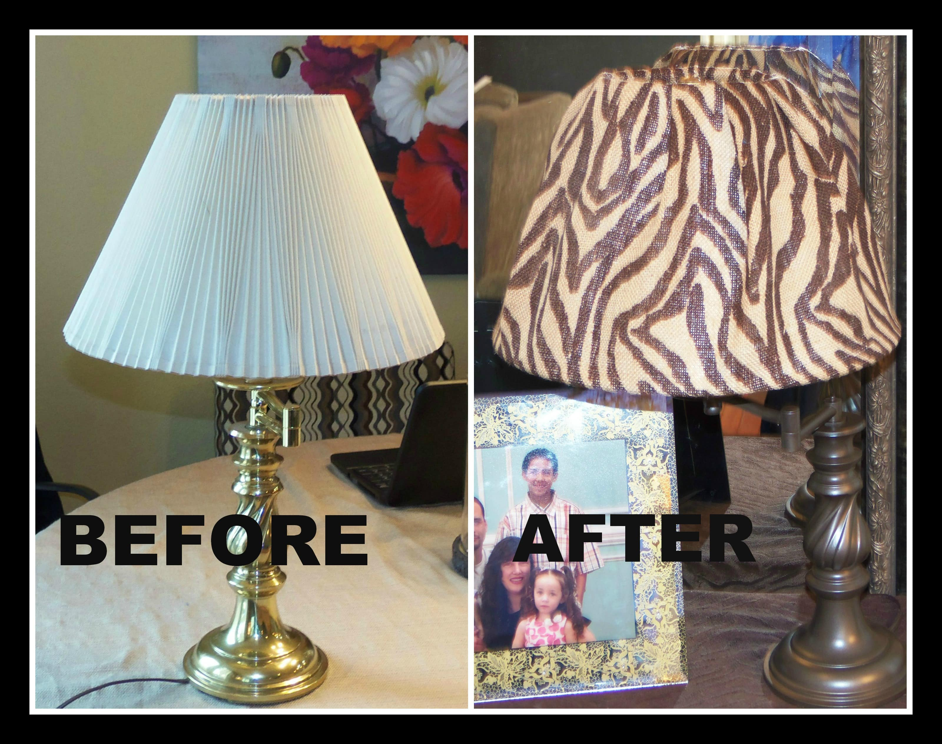 Diy redo a free lamp into something new thrifty nw mom for Redoing lamp shades