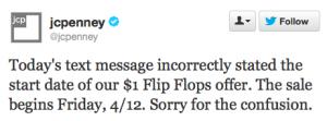 jcpenny flip flop sale