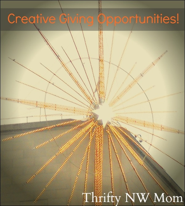 5 Giving Opportunities – Think Outside the Box!