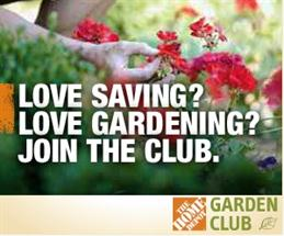 Home Depot Garden Club – $5 off $50 Coupon + $300 in Savings over Year