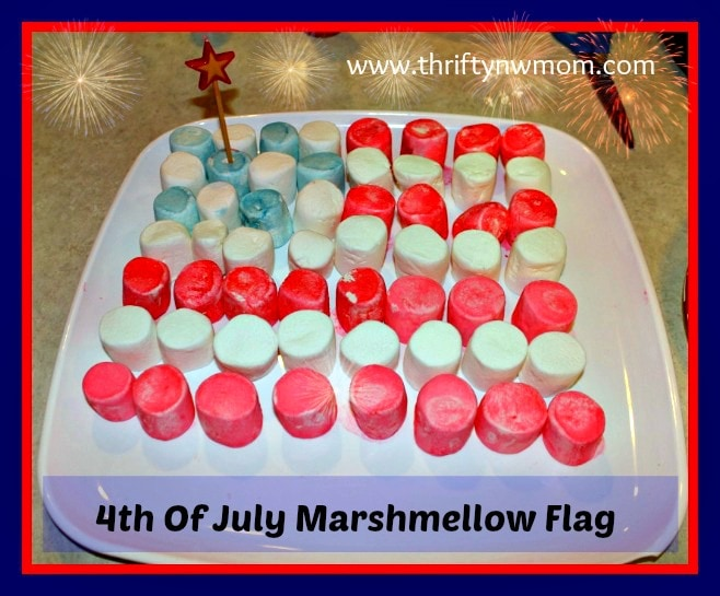 Fourth Of July Marshmallow Flag – Easy Holiday Dessert or Decoration!