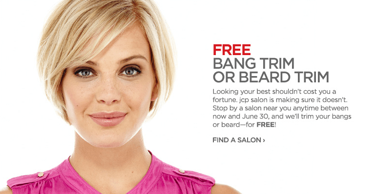 JCPenney Salons – Free Beard and Bang Trims through June 30th