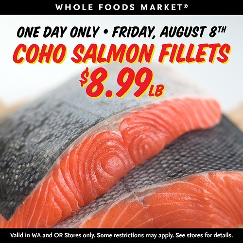 Whole Foods Wild Salmon Sale